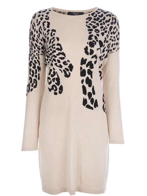 Pineaplle Maxmara by Weekend By Maxmara Ebro Knitted Leopard Dress In
