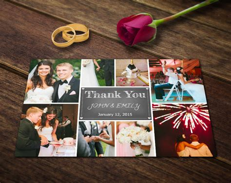 thank you card templates for photoshop wedding thank you card template photoshop templates