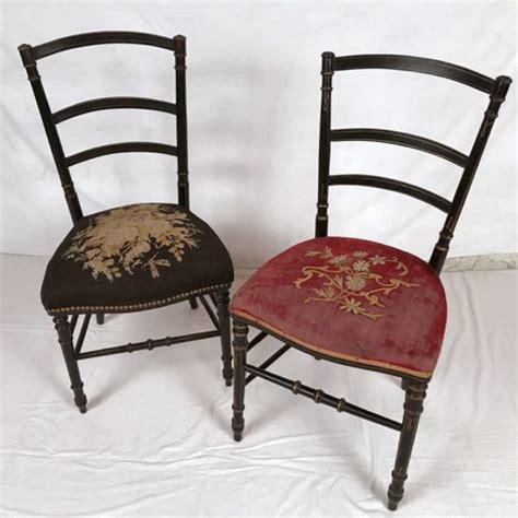chaise de chambre 2 chaises de chambre napoleon iii bois noirci