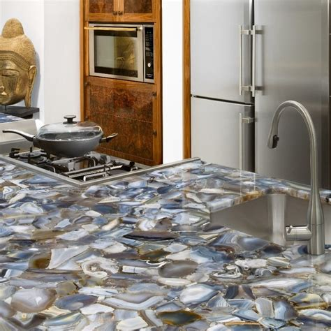 Kitchen Countertops Miami Grey Agate Countertop Semi Precious Eclectic Miami