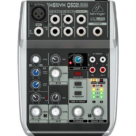 Behringer Xenyx Q802 Usb Mixer behringer behringer q502 usb xenyx premium 5 input 2 mixer with traktion 4 audio production