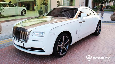 roll royce chrome rolls royce wraith with silver chrome from wrapstyle