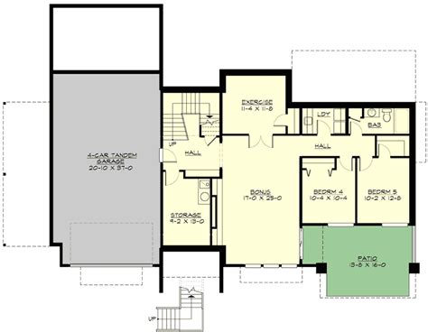 front sloping lot house plans modern beauty for front sloping lot 23556jd