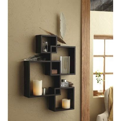 threshold home decor threshold interlocking display shelf with 2 led candles