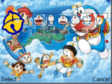 Themes Doraemon E63 | download tema ponsel doraemon theme