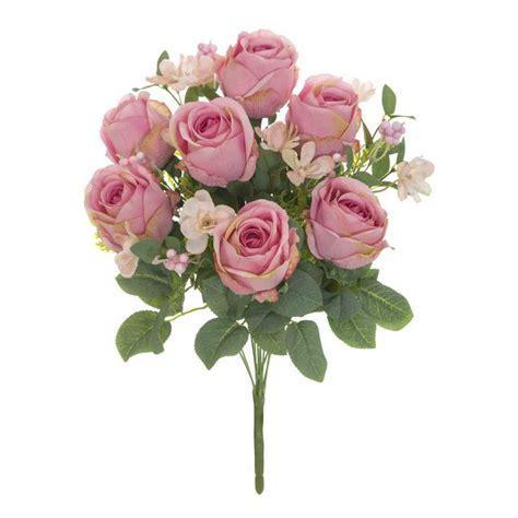 imagenes de rosas blancas y rosadas ramo flores artificiales rosas garnette rosadas
