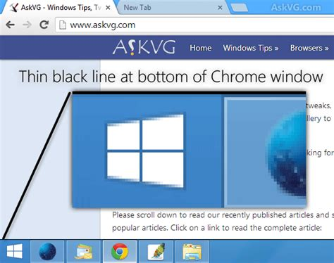 google chrome black bar top bug google chrome showing thin black bar at bottom of window askvg