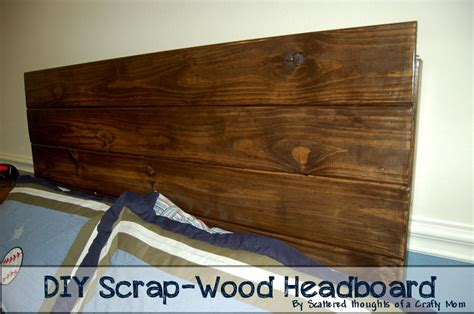 Scrap Wood Headboard by Scrap Wood Headboard Scattered Thoughts Of A Crafty By Sanders