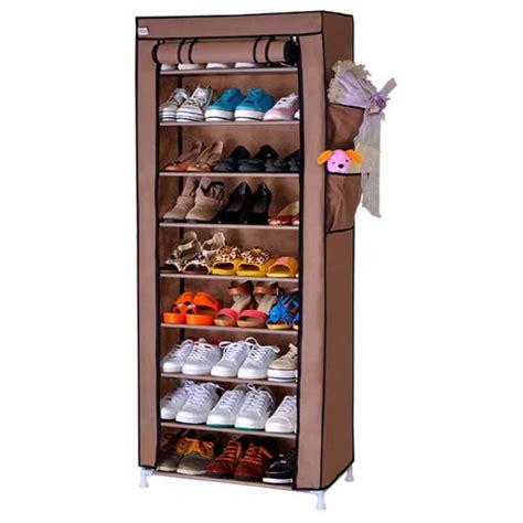 Rak Sepatu Tingkat Kotak Sepatu starhome rak sepatu 9 tingkat dengan penutup debu shoe