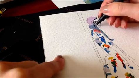 Watercolor Dress Tutorial | making of watercolor fashion illustration tutorial youtube