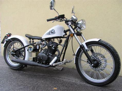 Motorrad Online Probesitzen by Cleveland Bobber 125 Ccm Quot White Gambler Quot