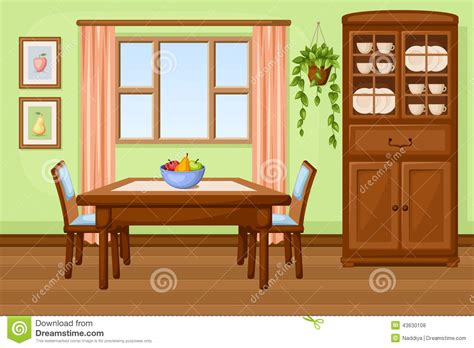 cartoon dining room dining room table cartoon