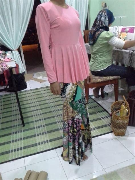 Cutting Baju Melayu florabeadz pola kain kembang payung peplum
