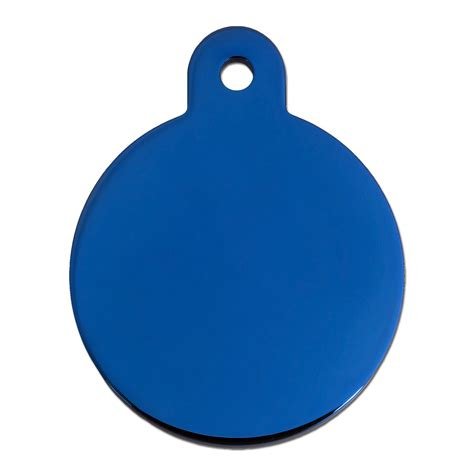 petco tags tag shiny blue circle personalized engraved pet id tag large petco