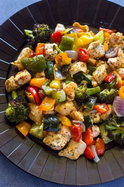 15 minute healthy roasted chicken and veggies one 10 best chris beat cancer recipes images on