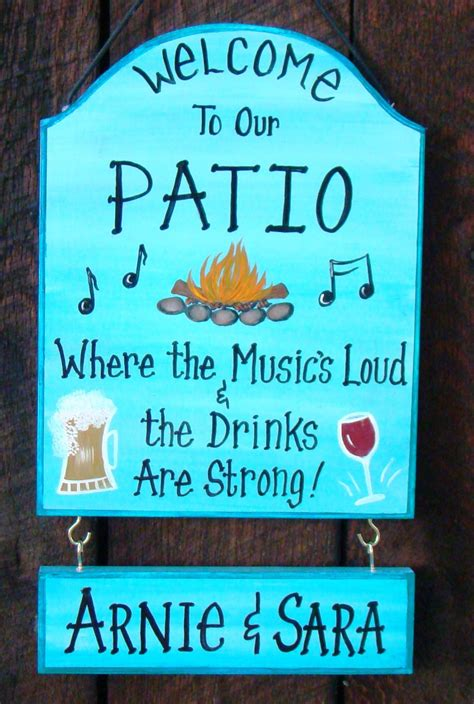Custom Backyard Signs by Custom Patio Backyard Sign For Home By Creativedesigns77