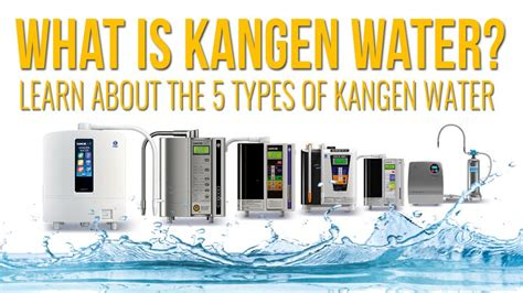 what does water mean what is enagic kangen water learn about the 5 different