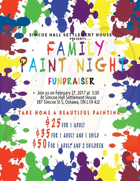 paint nite for families simcoe settlement house upcoming events 187 187 family