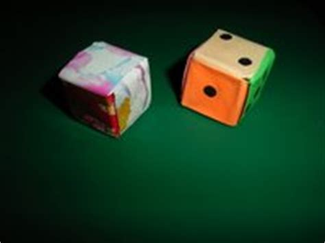 Origami Dice - origami photos dice