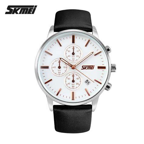 Jam Tangan Kulit Asli Skmei 9103 jual jam tangan pria skmei analog casual leather