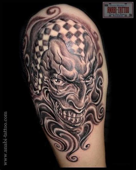 evil joker tattoo meaning evil clown tattoos meaning