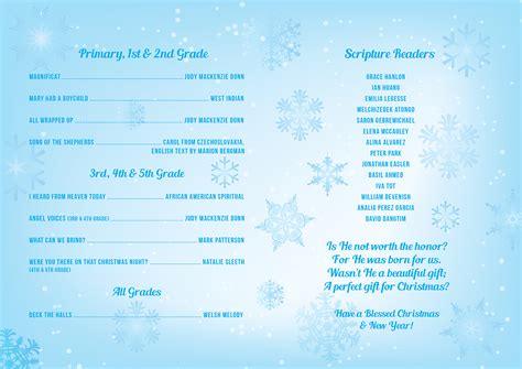 christmas themes for church program school christmas concert program dax graphics