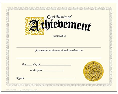 trend enterprises templates achievement certificate best of trend enterprises classic