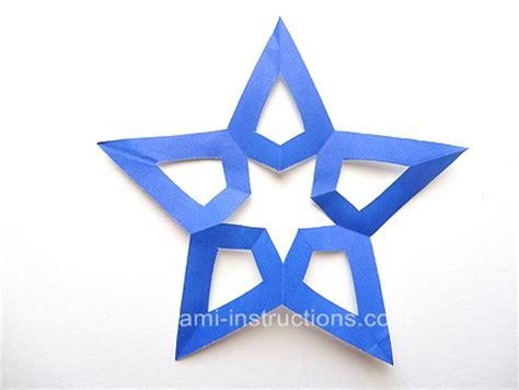 Origami Pentagram - kirigami pentagram