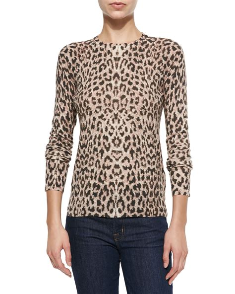 Aniimal Sweater equipment animal sloane leopard print crewneck sweater lyst