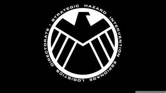 marvel the shield logo wallpaper
