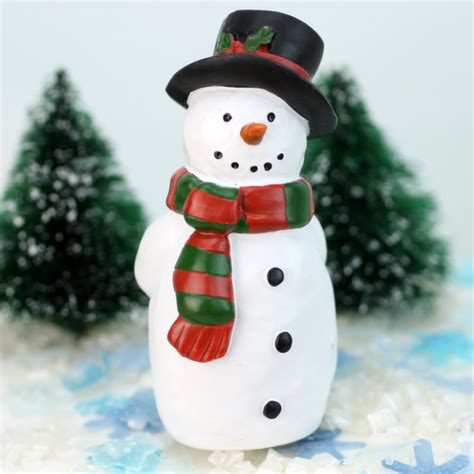 resin snowman with black hat