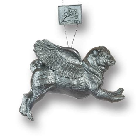 pug decorations uk pugs might fly tree decoration silver
