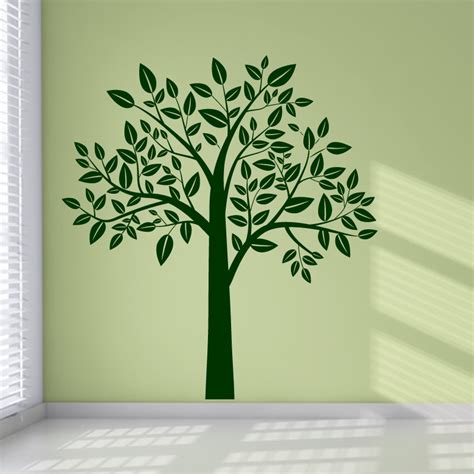 wall sticker tree leafy tree wall stickers wall decal transfers ebay