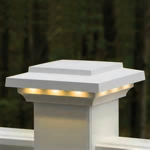 bronze solar lights azek rail lighted island post cap contemporary post