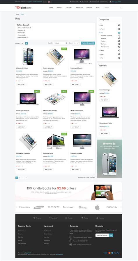 themes zip download pav digital store responsive opencart theme download zip