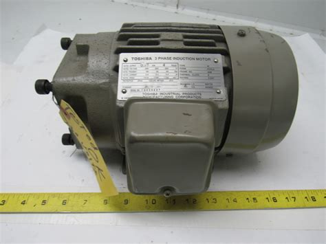 Motor Electric 220 by Toshiba 0 75kw Electric Induction Motor 200 220v 3ph 1720