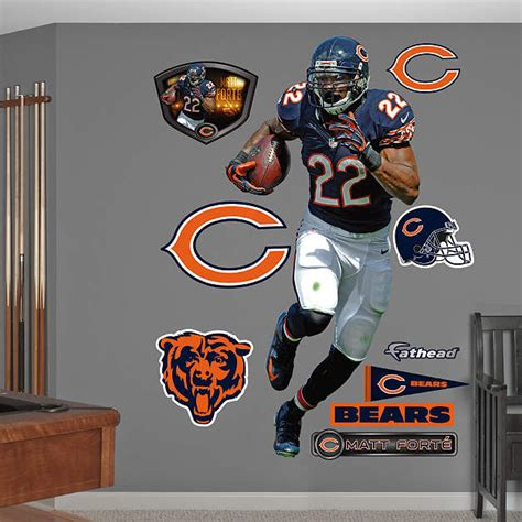 chicago bears wall stickers fathead chicago bears matt forte home wall graphic