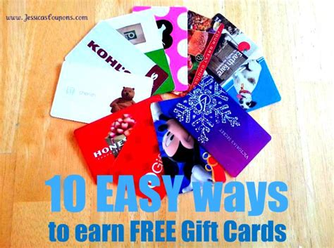Easy Way To Get Free Gift Cards - 10 easy ways to earn free gift cards