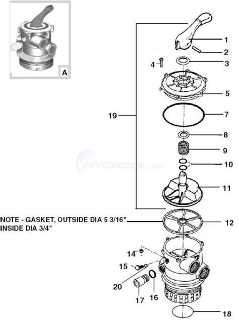 pool filter valve diagram poolco multiport valve parts inyopools