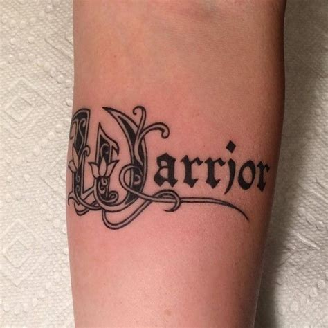 warrior word tattoo warrior word www pixshark images galleries