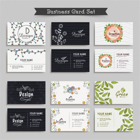 workshop card template decoration blank business card template workshop vector