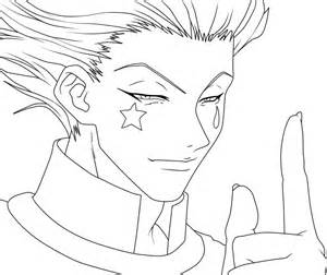 How To Draw Hunter X Hisoka Sketch Coloring Page sketch template