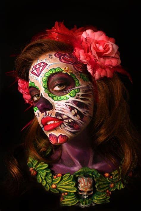 imagenes hipster halloween sugar skull body painting by alex hansen combines stunning