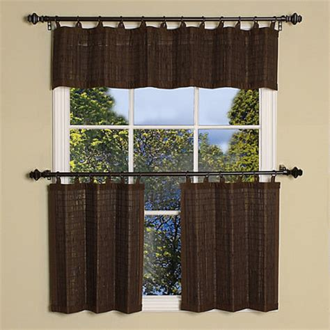 matchstick curtains matchstick ring top bamboo tier panels improvements catalog