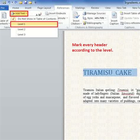 create table of contents in word how to create a table of contents in ms word 2010 howtech