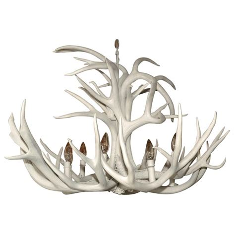 White Antler Chandelier White Antler Chandelier