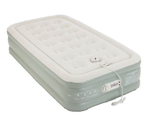 aerobed premier raised air bed with built in page 1 qvc