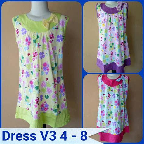 Puasat Grosir Baju Lidia Dress Katun Jepang grosir dress v3 size 4 8 anak perempuan murah tanah abang rp 22 500