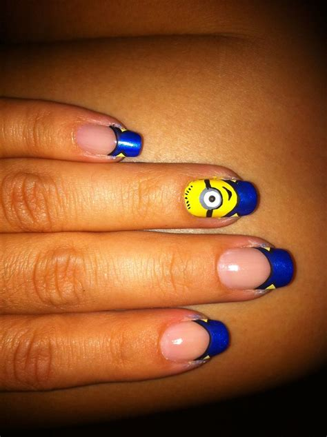 imagenes de uñas decoradas de ositos u 241 as minions u 241 as decoradas nail art pinterest