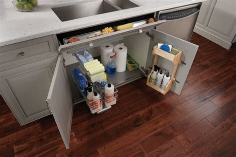 under kitchen sink storage storage under the sink kitchen pinterest